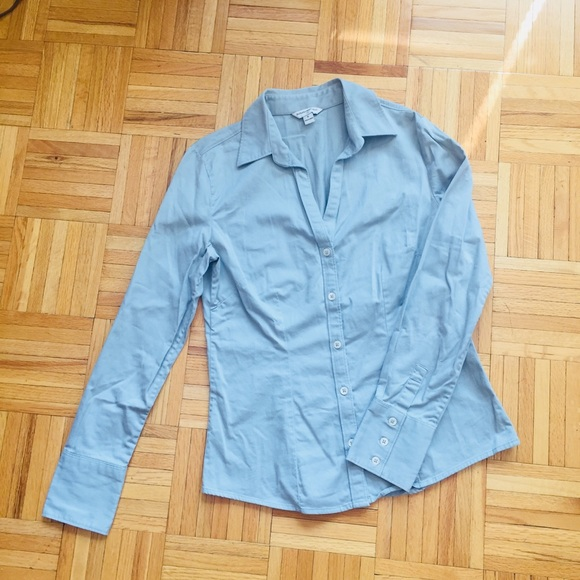 28660561f5 Banana Republic Tops | Womens Light Blue Button Down Shirt Blouse ...